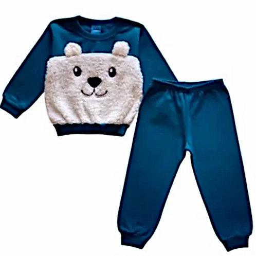 Conjunto Infantil Masculino - Urso - Azul - WRK