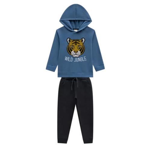 Conjunto Infantil Masculino - Tigre - Azul - Milon