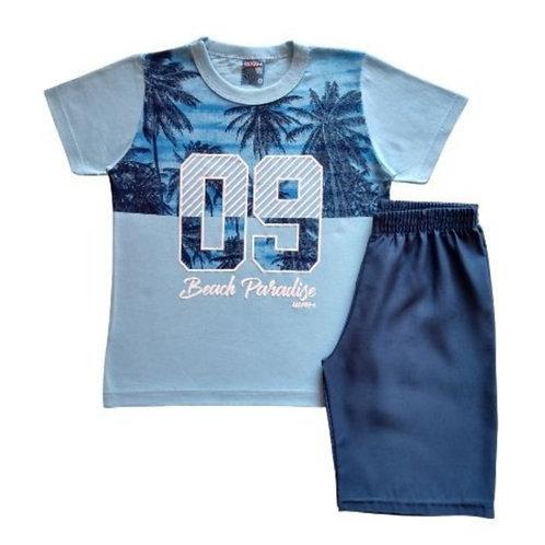 Conjunto Infantil Masculino - Beach - Azul - WRK