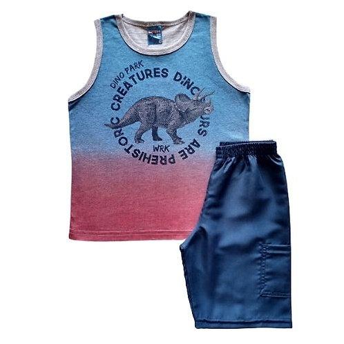 Conjunto Infantil Masculino - Dino Park - Azul - WRK