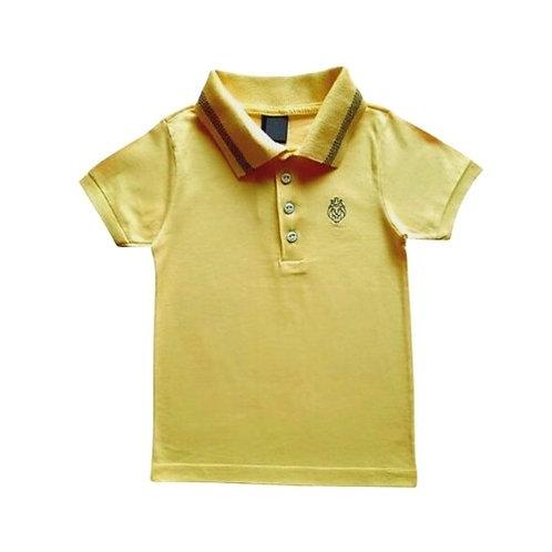 Camisa Polo Manga Curta Infantil Masculina - Amarela