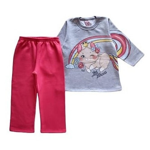 Conjunto Infantil Feminino - Princess - Cinza - Kely Kety