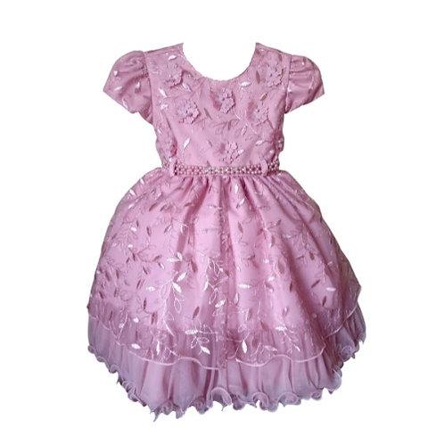 Vestido Infantil Festa - Rosa