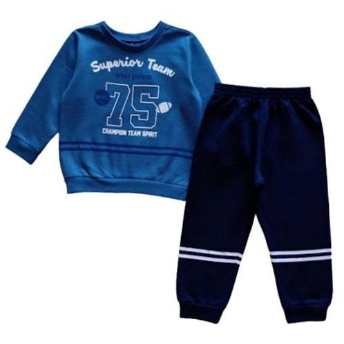Conjunto Infantil Masculino - Superior Team - Azul - Cativa