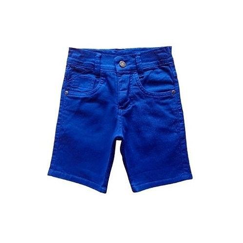 Bermuda Sarja Infantil Masculina - Azul