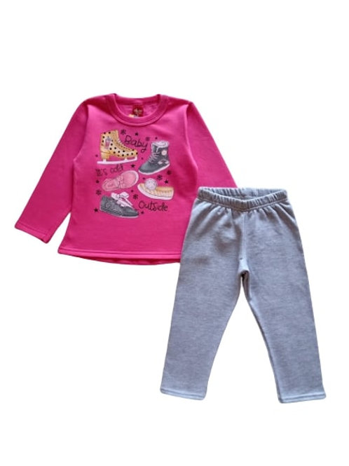 Conjunto Infantil Feminino - Sapatos - Pink - Elian