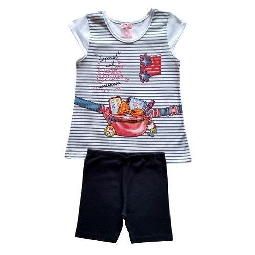 Conjunto Infantil Feminino - Love Acessórios - Branco