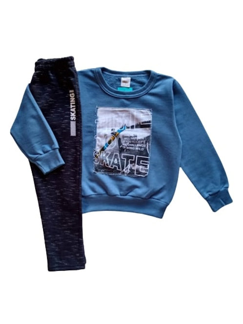 Conjunto Infantil Masculino - Skate - Azul - Elian