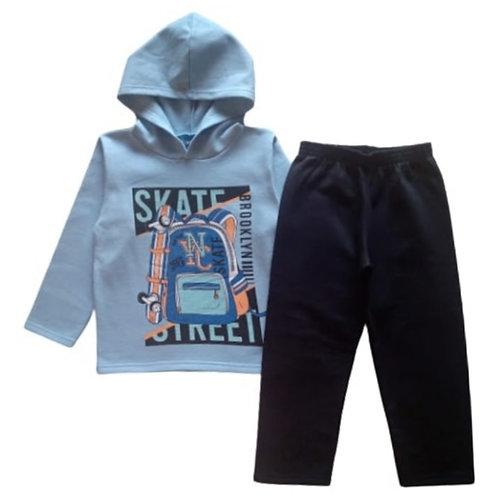 Conjunto Infantil Masculino - Skate - Azul - WRK