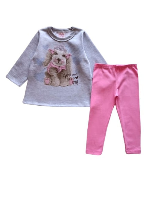 Conjunto Infantil Feminino - Smile Dog - Kely Kety
