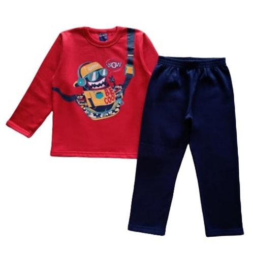 Conjunto Infantil Masculino - Be Cool - Vermelho - WRK