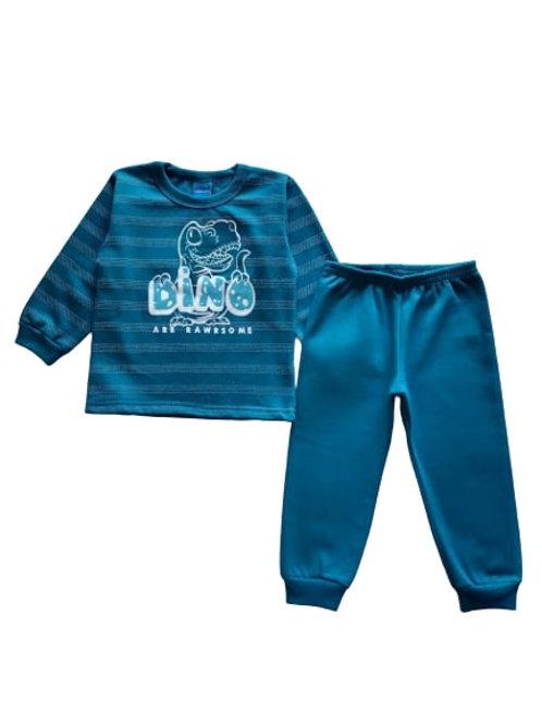 Conjunto Infantil Masculino - Dino - Azul - WRK