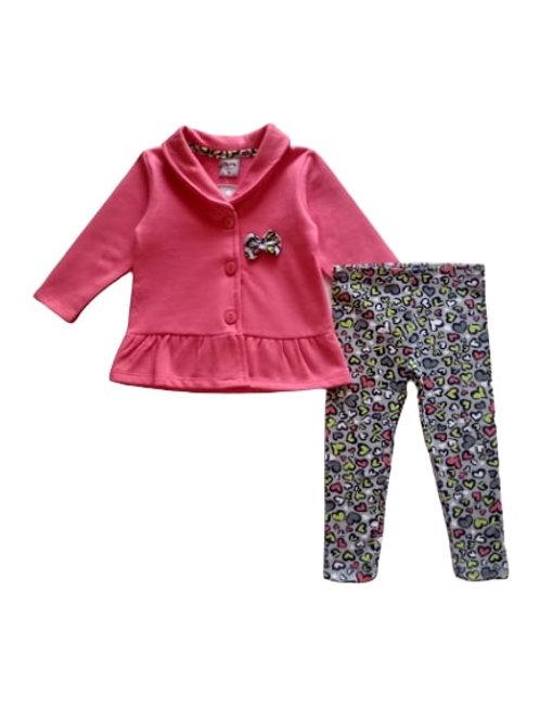 Conjunto Infantil Feminino - Laço - Rosa - Kely Kety