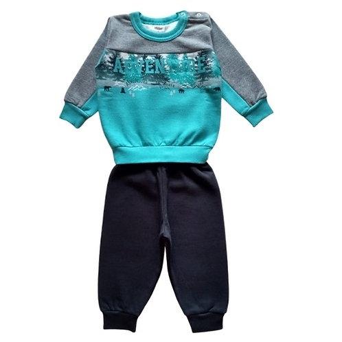 Conjunto Infantil Menino - Adventure - Verde - Elian
