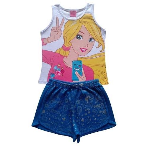 Conjunto Infantil Feminino - Barbie - Branco