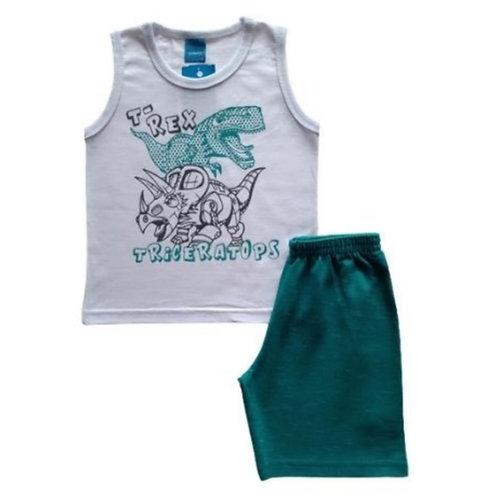 Conjunto Infantil Masculino - Dinossauro - Branco - WRK
