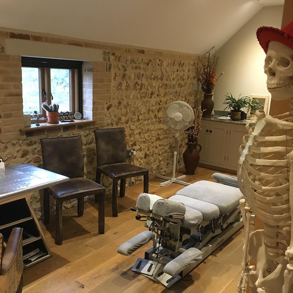 The chiropractor's room