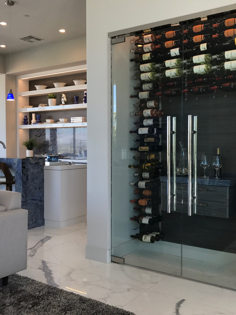 Custom Glass Wine Cellars