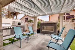 custom fireplace outdoors