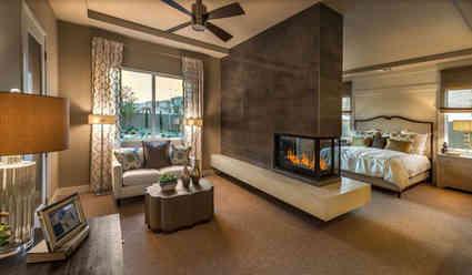 indoor corner fireplace
