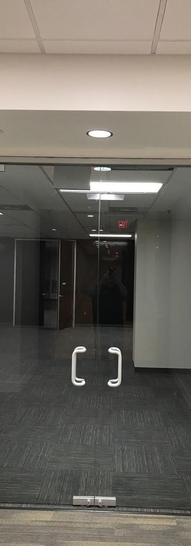 glass door install