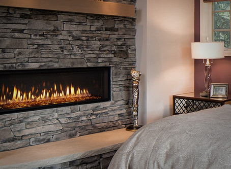Heat & Glo's Mezzo Series Direct Vent Gas Fireplace: Available at Hearth & Home Specialties, Inc.