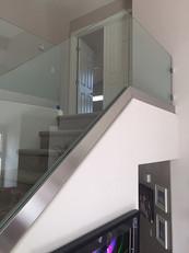Custom Glass Stair Railing