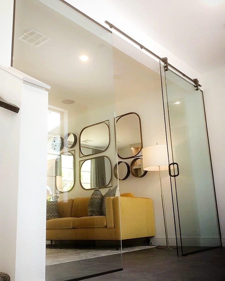 interior glass barn doors