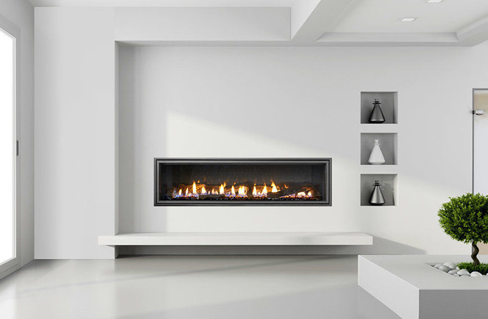 heat & glo mezzo gas fireplace in vegas