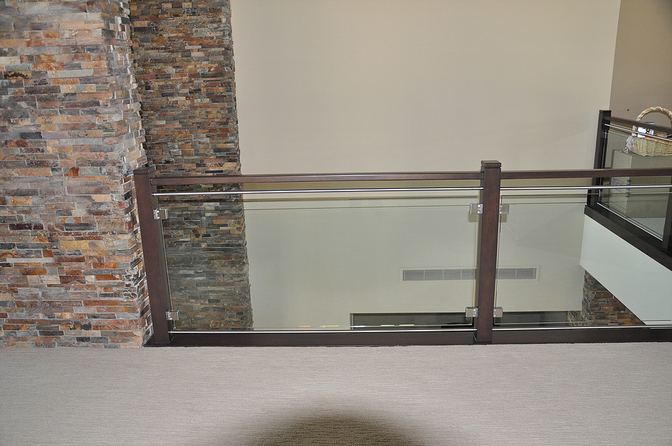 glass railing indoor