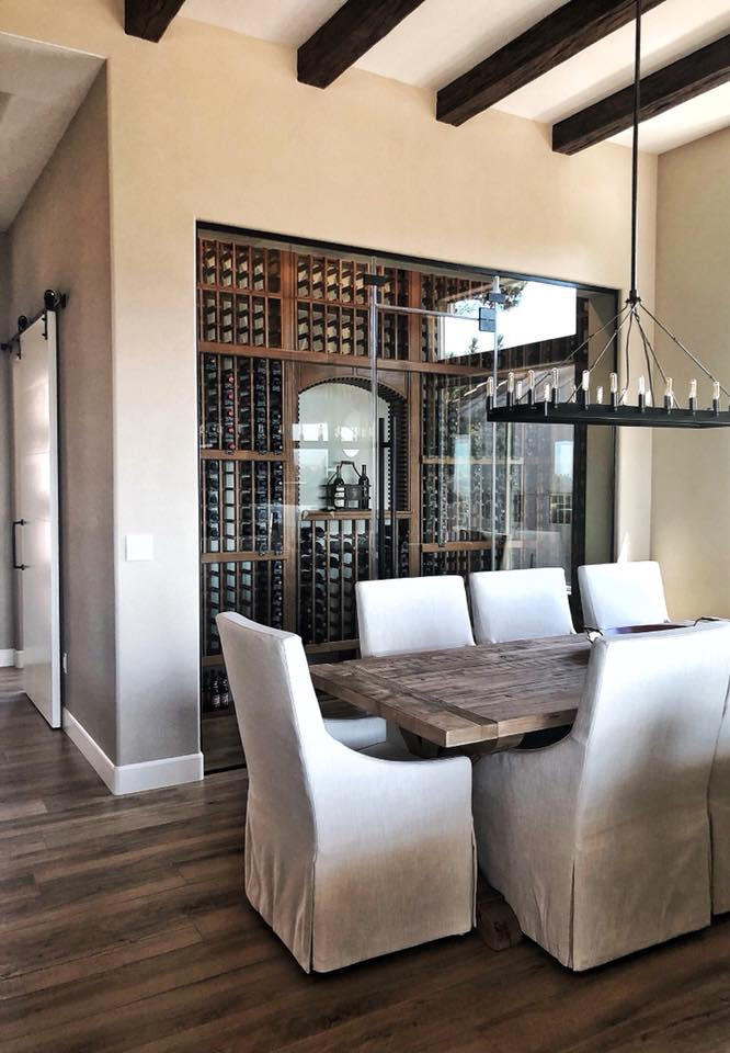 Vista Butte Glass Wine Cellar