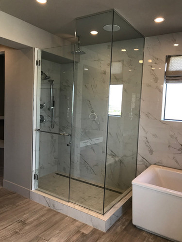 framing a custom shower