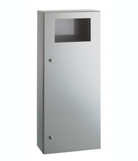 commercial restroom garbage can