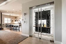 las vegas custom glass wine cellar