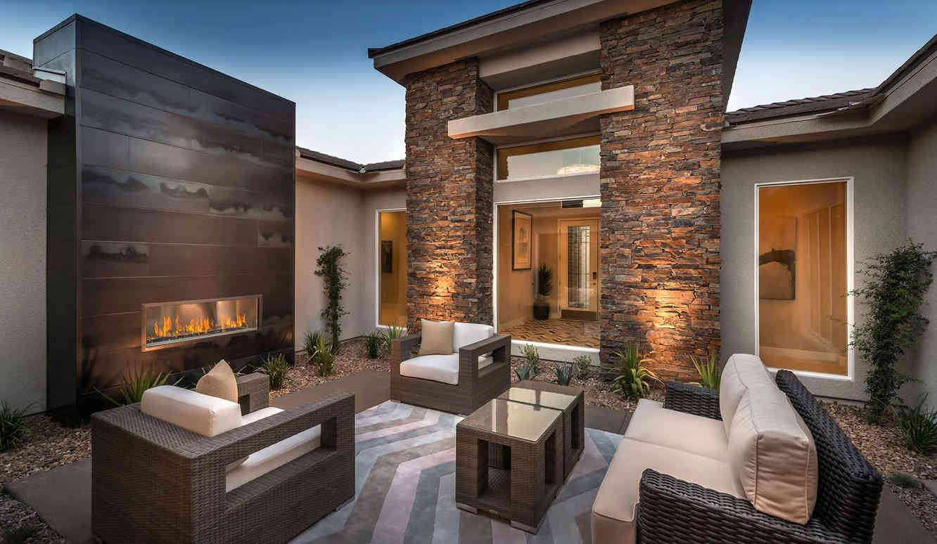 outdoor fireplace las vegas