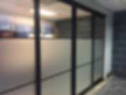 storefront partition slider doors
