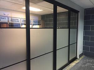 storefront partition slider doors