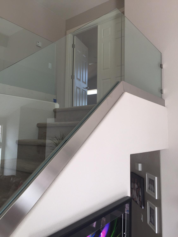 Custom interior glass railings