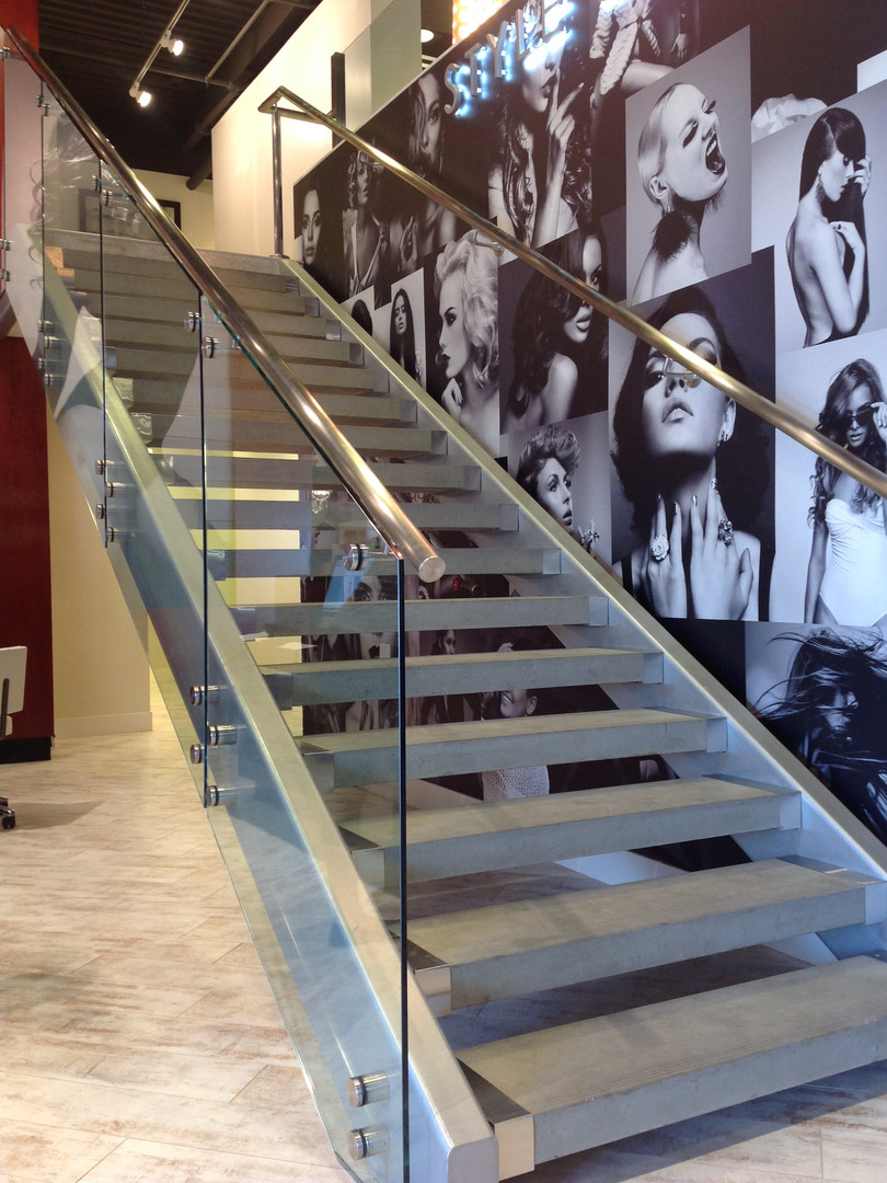 Custom Glass Stair Railings