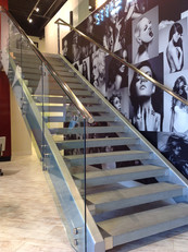 Custom Glass Stair Railings