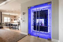 custom wine glass with lights