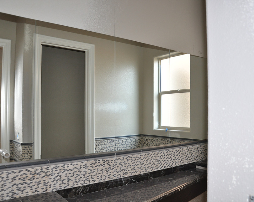 Custom Glass Bathroom Mirrors