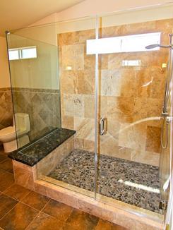 custom shower and glass