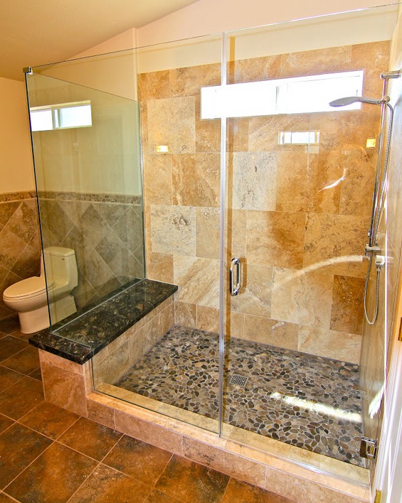 custom shower and glass