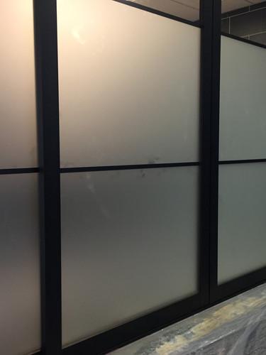 glass indoor barn door slider