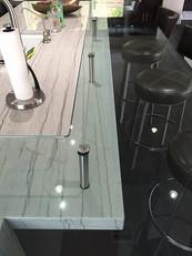 Install Glass Countertops & Rails