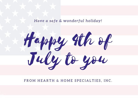 Happy 4th of July from Hearth & Home Specialties, Inc. in Las Vegas!