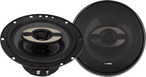 "6.5""3-way Triaxial Flush Mount Speakers."