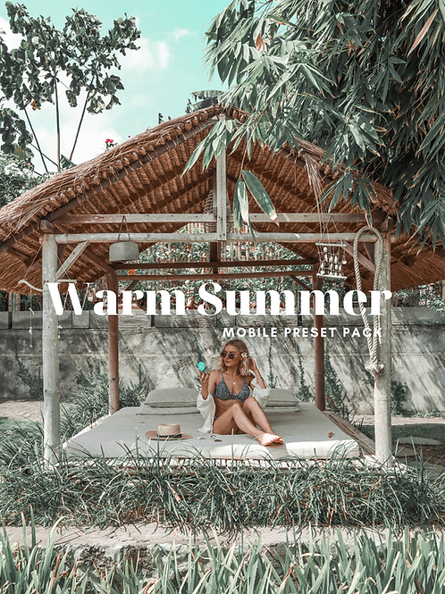 Warm Summer Mobile Preset Pack