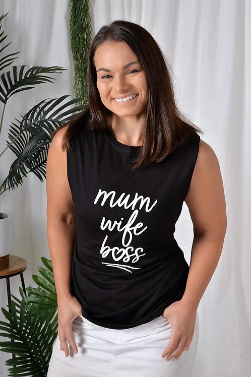 Mum Wife Boss Muscle Tee